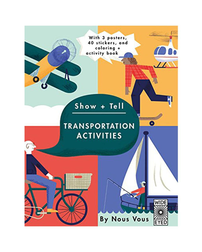 Little quarto publishing group play Show + Tell: Transportation Activities