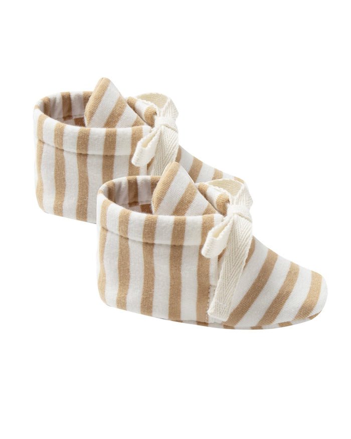 Little quincy mae baby accessories baby booties in honey stripe