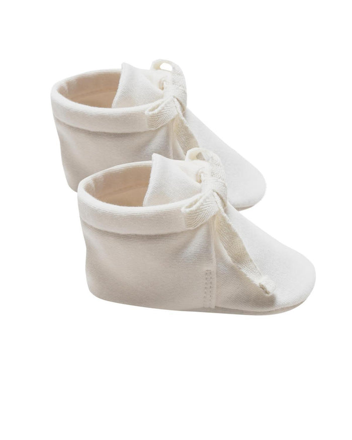 Little quincy mae baby accessories 0-3 baby booties in ivory