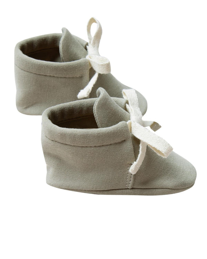 Little quincy mae baby accessories 0-3 baby boots in sage