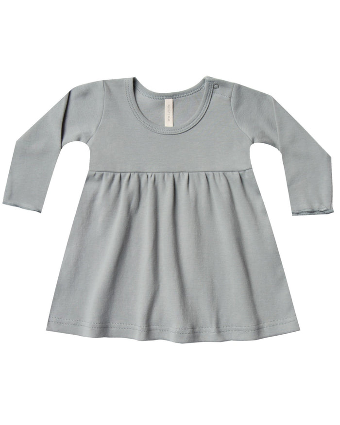 Little quincy mae baby girl baby dress in dusty blue