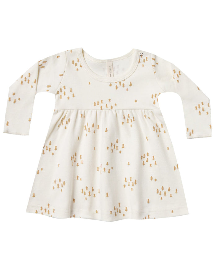 Little quincy mae baby girl baby dress in ivory