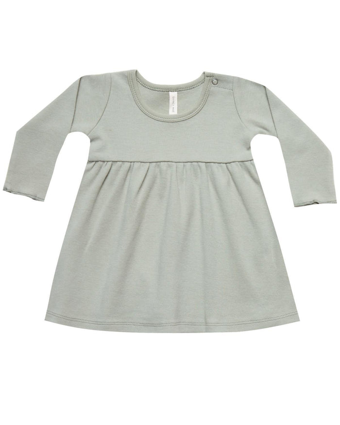 Little quincy mae baby girl 0-3 baby dress in sage