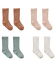 Little quincy mae accessories baby socks in ivory, ocean, petal + rust