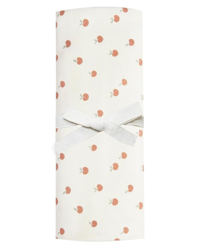 Little quincy mae baby accessories baby swaddle in ivory + peach