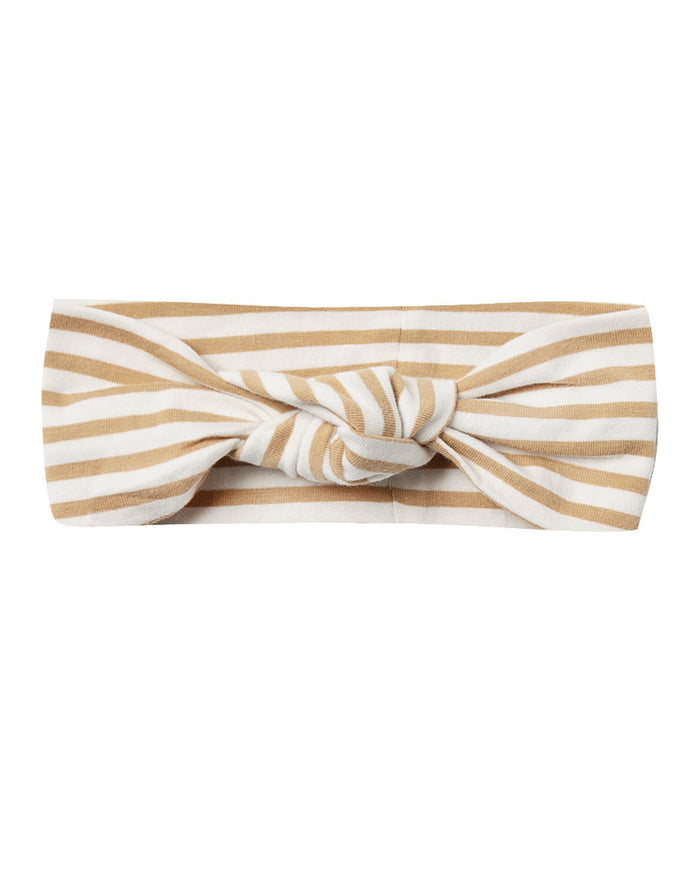 Little quincy mae baby accessories baby turban in honey stripe