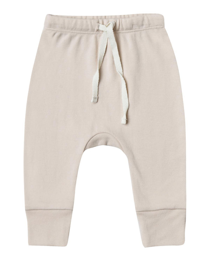 Little quincy mae baby girl 0-3 drawstring pant in bone