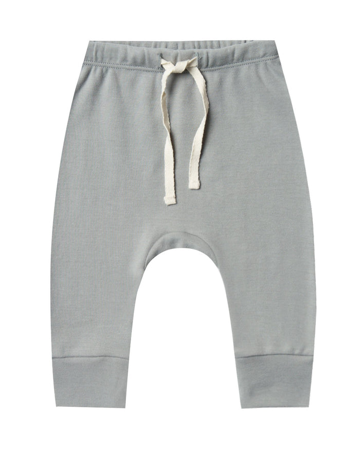 Little quincy mae baby girl drawstring pant in dusty blue