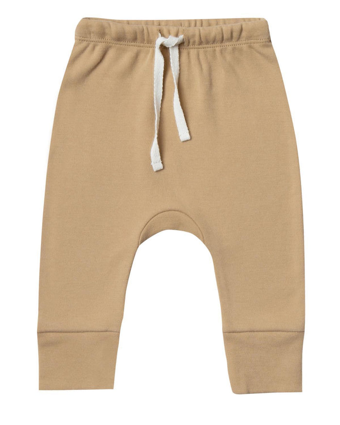 Little quincy mae baby boy 0-3 drawstring pant in honey