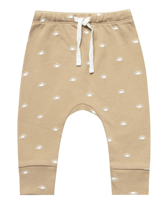 Little quincy mae baby girl 0-3 drawstring pant in honey