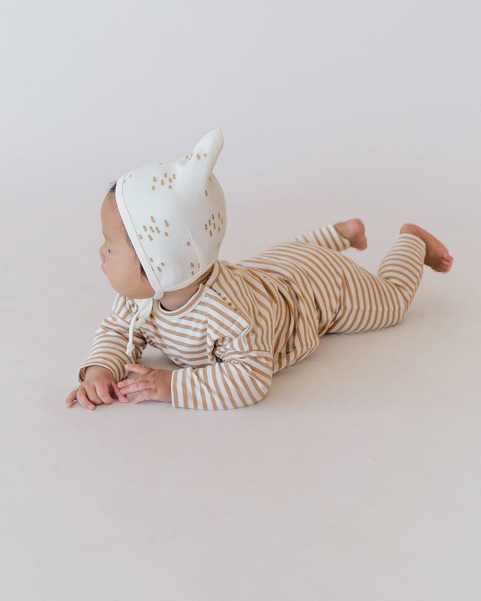 Little quincy mae baby girl drawstring pant in honey stripe