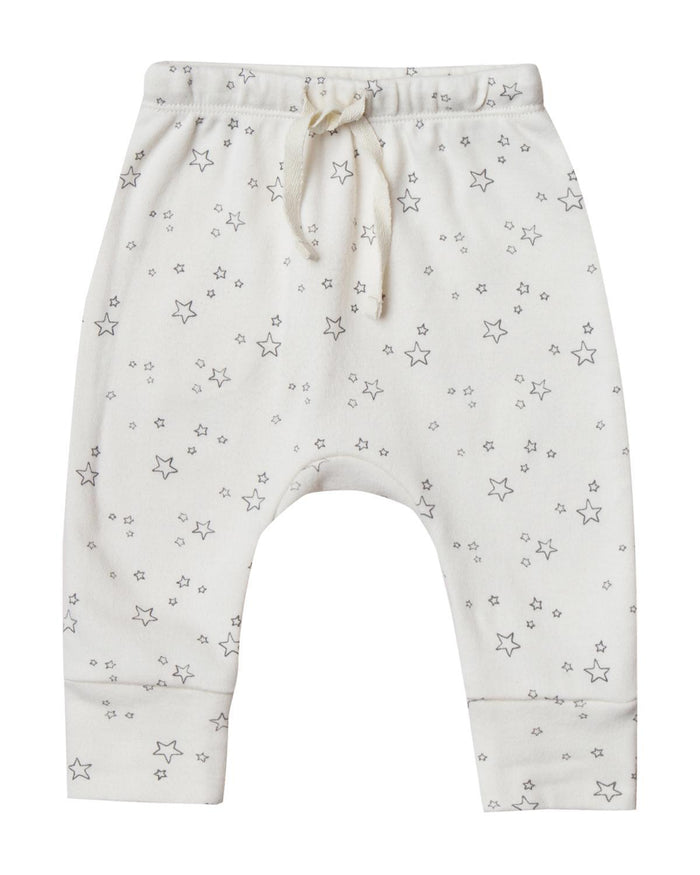 Little quincy mae baby girl 0-3 drawstring pant in ivory