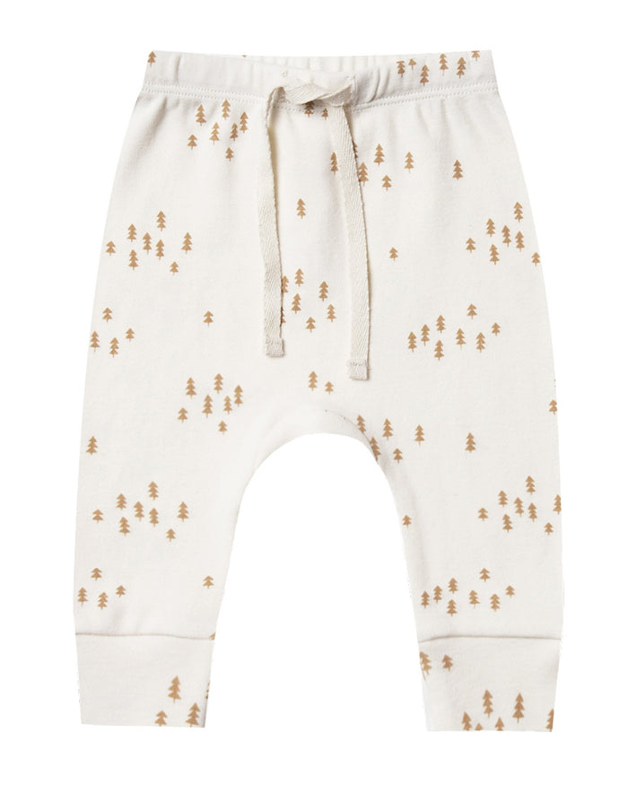 Little quincy mae baby girl drawstring pant in ivory