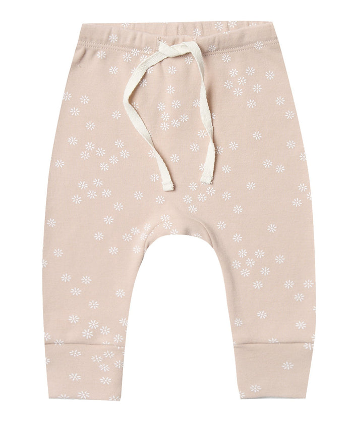 Little quincy mae baby girl drawstring pant in rose