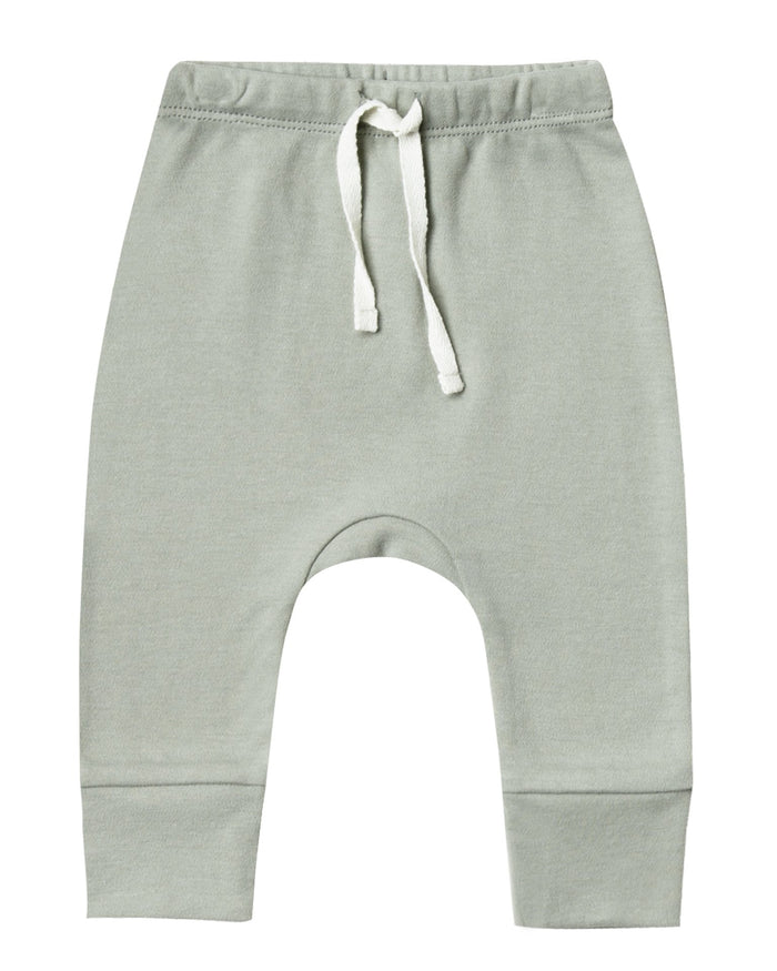 Little quincy mae baby girl drawstring pant in sage