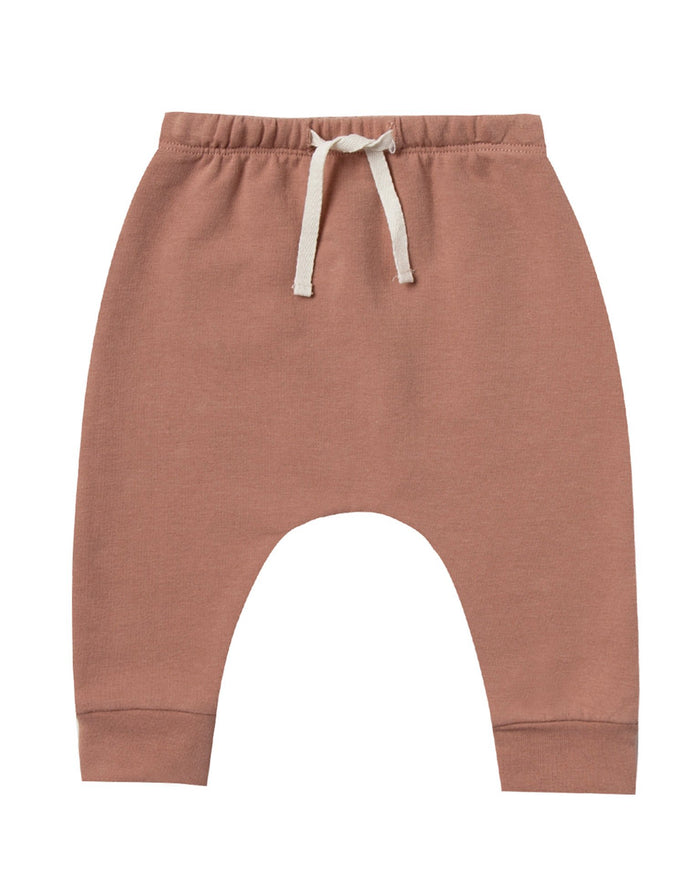 Little quincy mae baby girl fleece sweatpant in clay