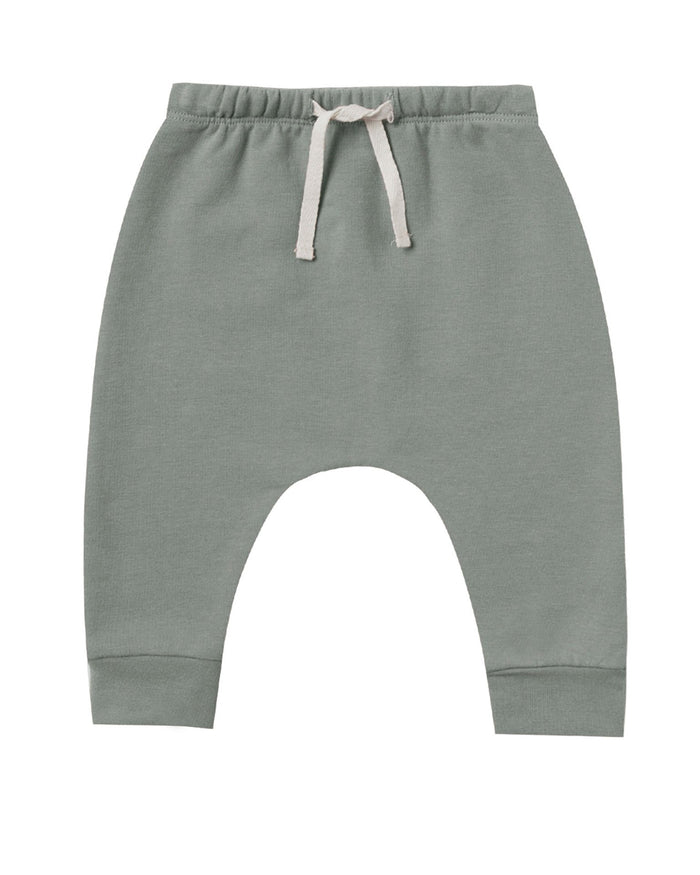 Little quincy mae baby girl fleece sweatpant in eucalyptus