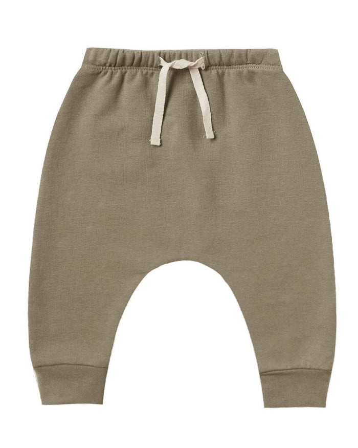 Little quincy mae baby girl fleece sweatpant in olive