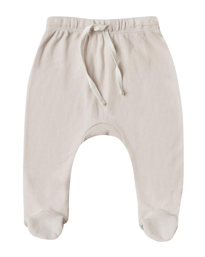 Little quincy mae layette 0-3 footed pant in bone