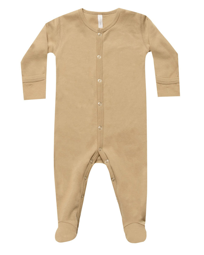 Little quincy mae layette full snap footie in honey