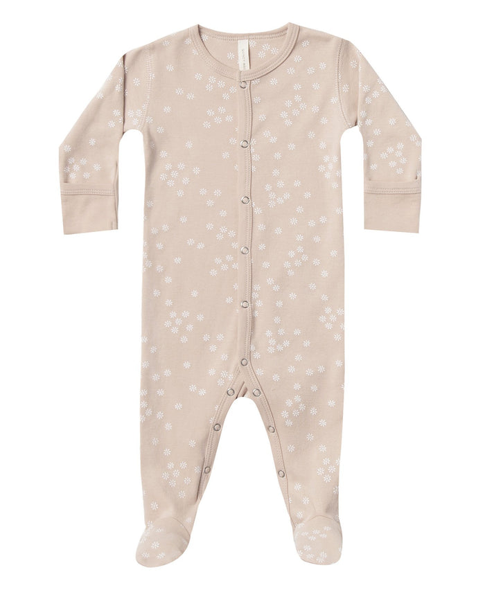 Little quincy mae baby girl full snap footie in rose