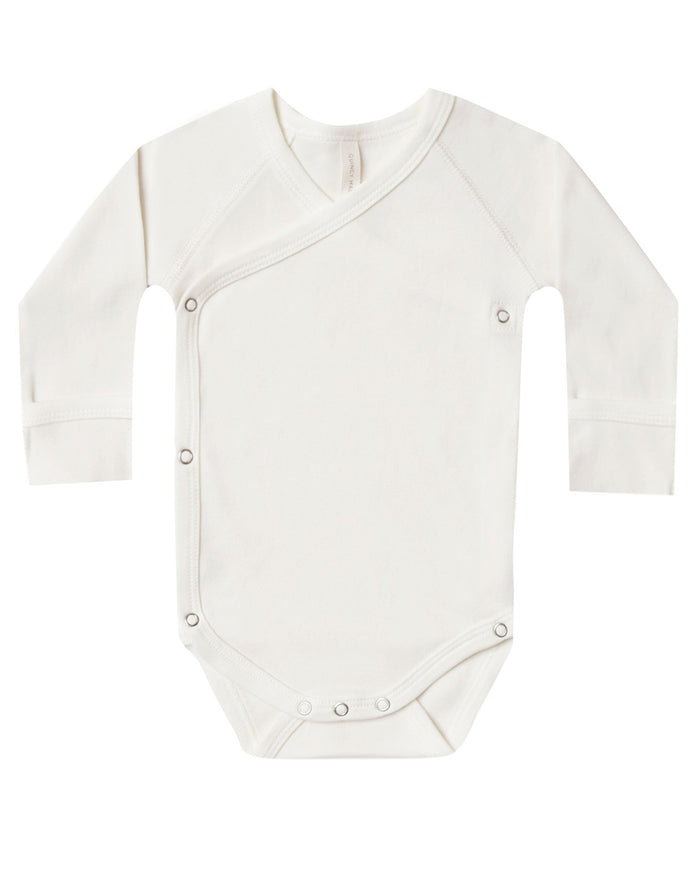 Little quincy mae layette kimono onesie in ivory