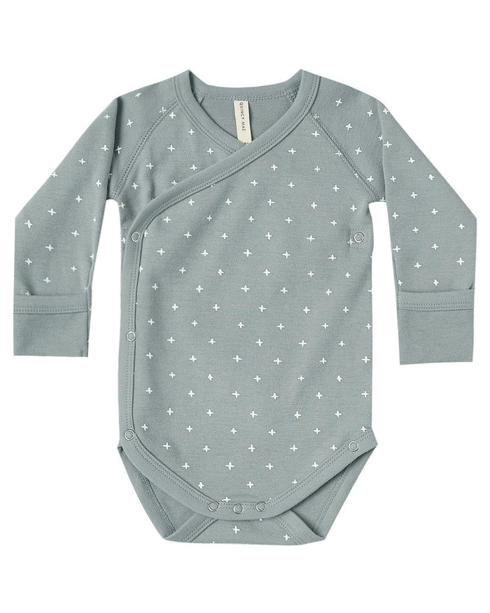 Little quincy mae baby girl kimono onesie in ocean