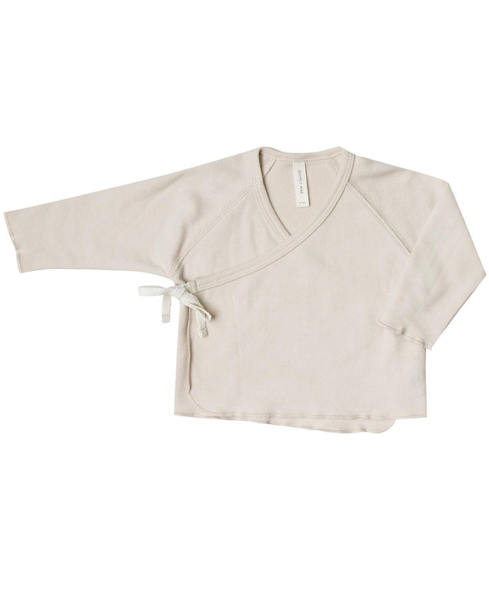 Little quincy mae layette 0-3 kimono top in bone