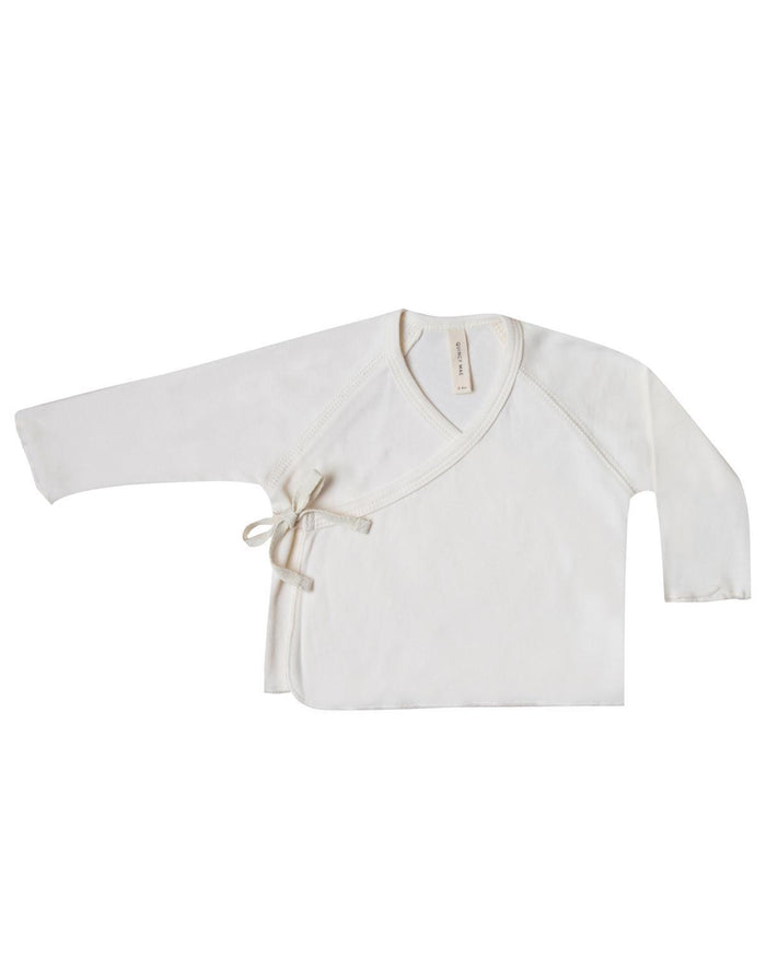 Little quincy mae layette 0-3 kimono top in ivory