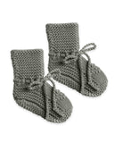 Little quincy mae baby accessories knit booties in eucalyptus