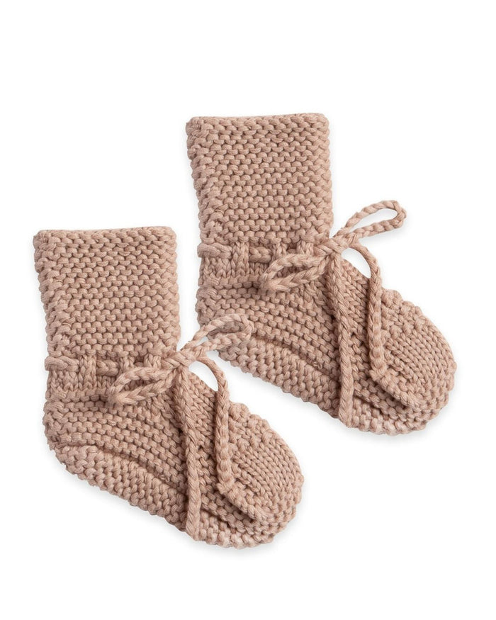 Little quincy mae baby accessories knit booties in petal