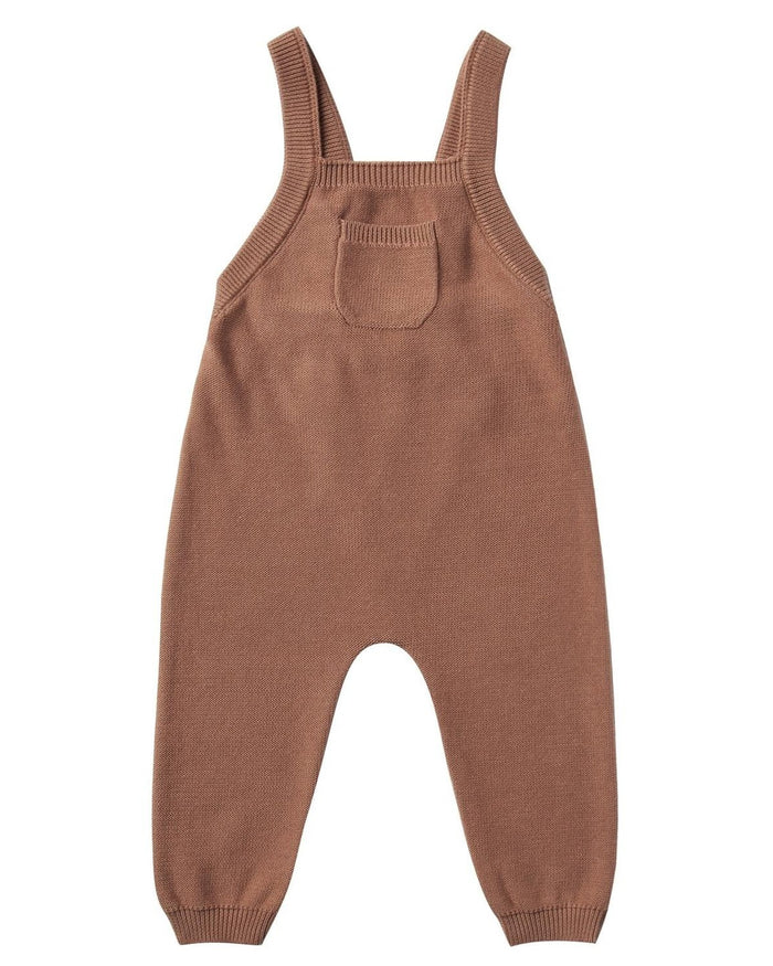 Little quincy mae baby girl knit overall in clay