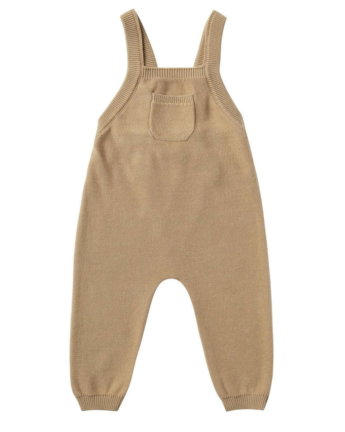 Little quincy mae baby girl knit overall in honey