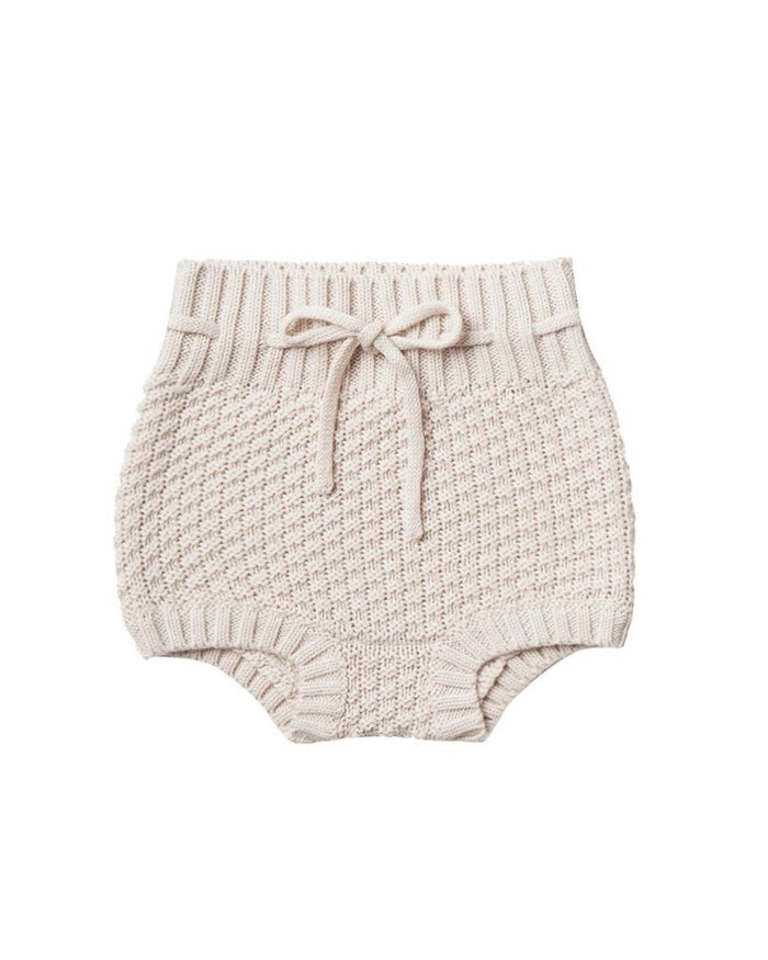 Little quincy mae baby girl knit tie bloomer in pebble