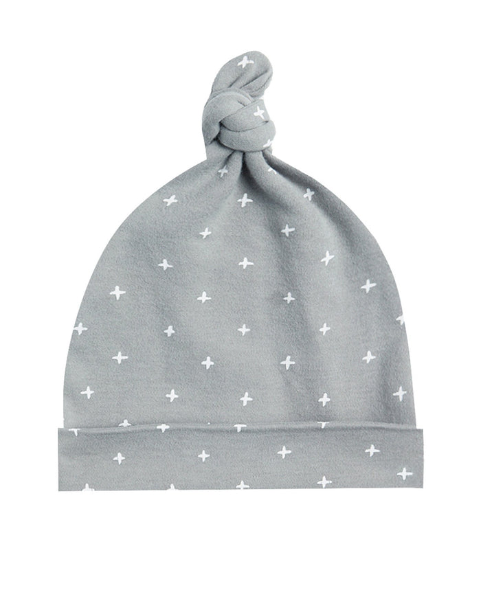 Little quincy mae baby accessories 0-6 knotted baby hat in dusty blue