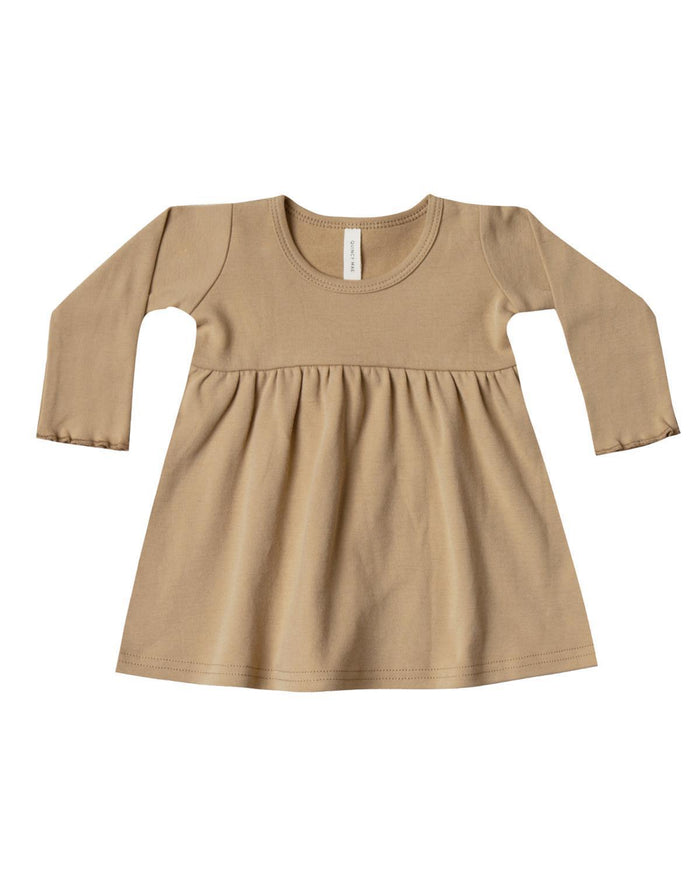Little quincy mae baby girl 0-3 long sleeve baby dress in honey