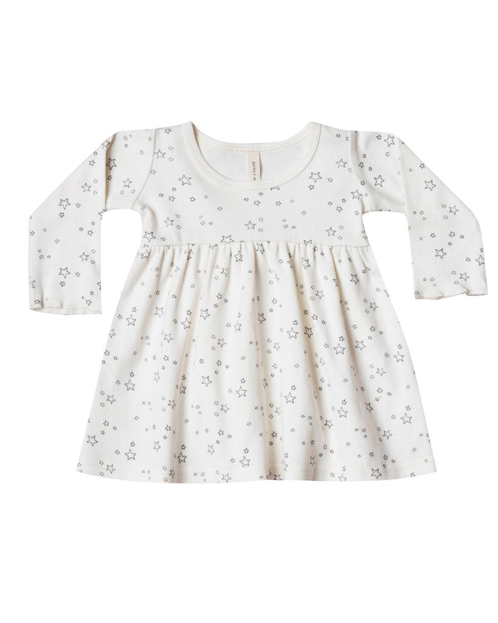 Little quincy mae baby girl 0-3 long sleeve baby dress in ivory