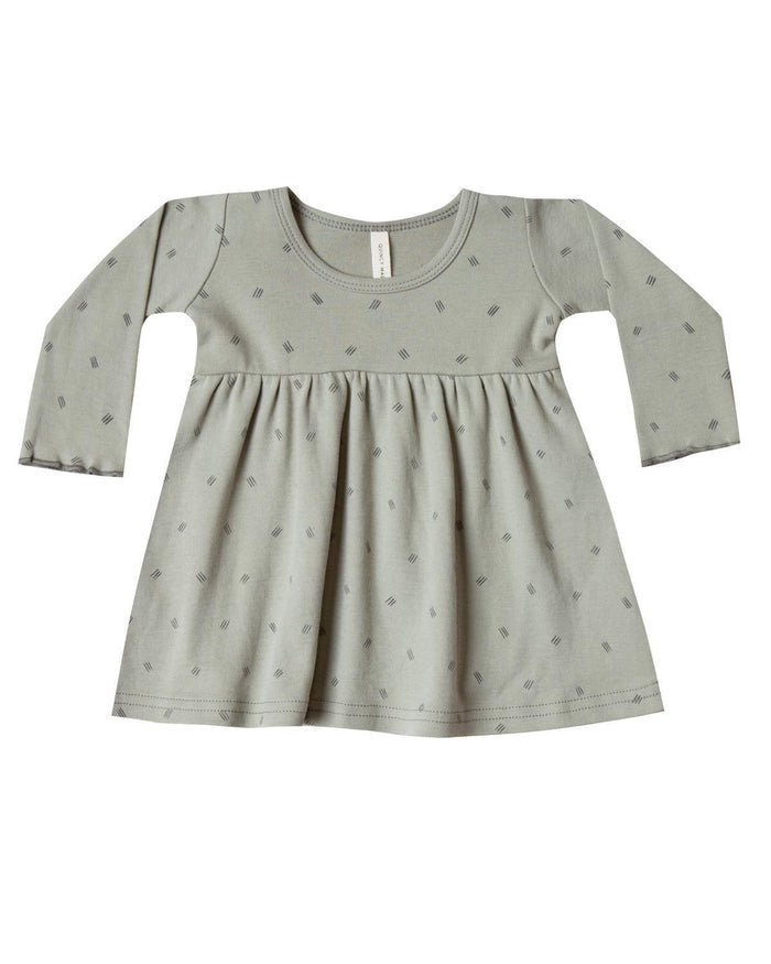 Little quincy mae baby girl 0-3 long sleeve baby dress in sage