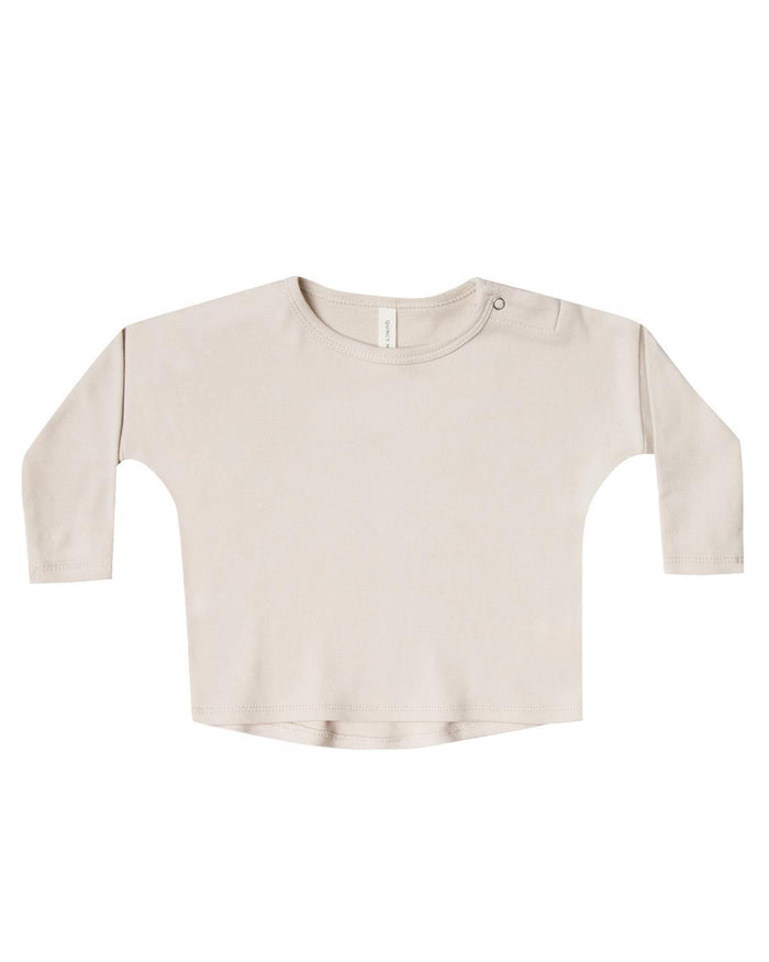 Little quincy mae baby girl 0-3 long sleeve baby tee in bone