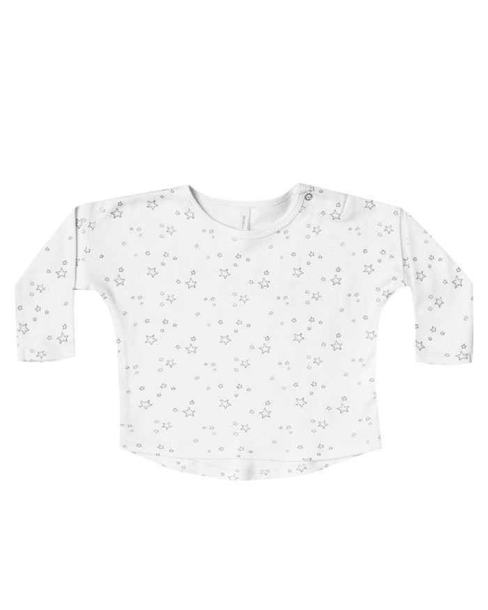 Little quincy mae baby girl 0-3 long sleeve baby tee in ivory