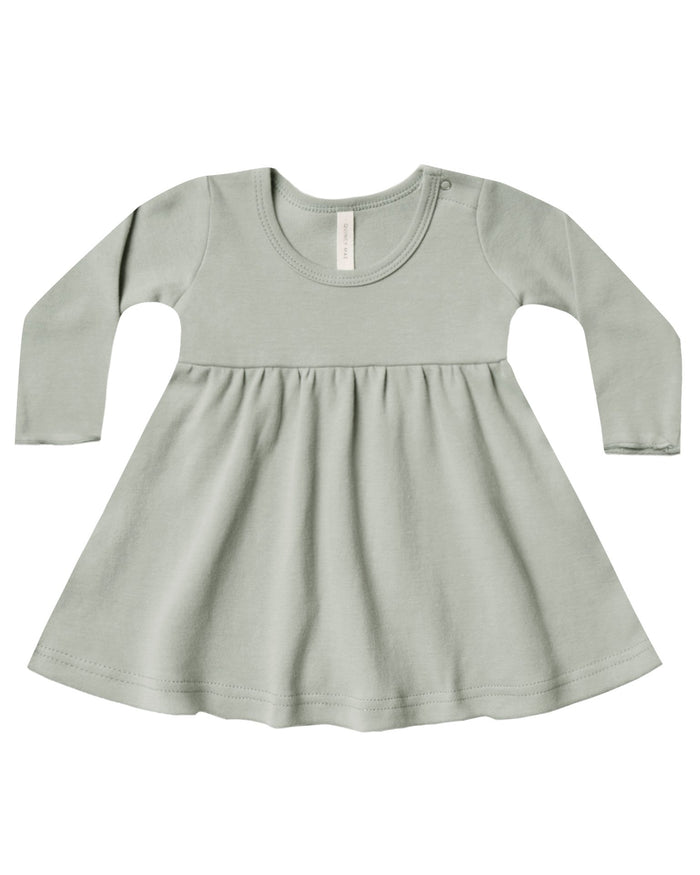 Little quincy mae baby girl longsleeve baby dress in sage