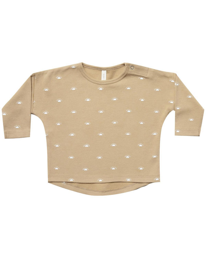 Little quincy mae baby girl 0-3 longsleeve baby tee in honey