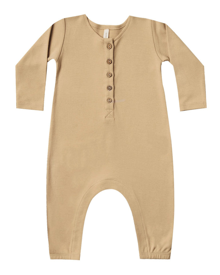Little quincy mae baby girl longsleeve jumpsuit in honey