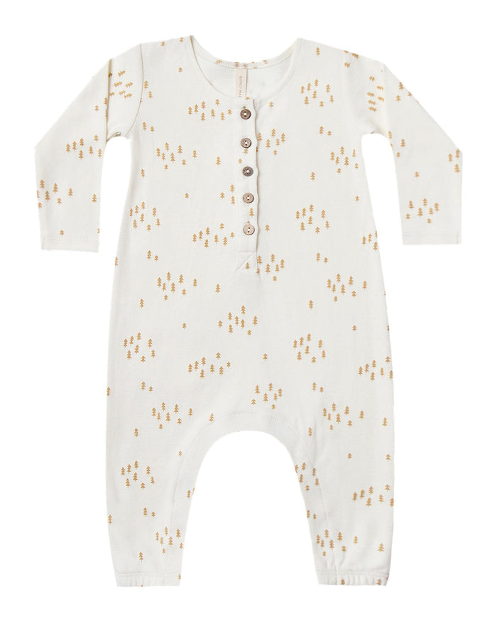 Little quincy mae baby girl longsleeve jumpsuit in ivory