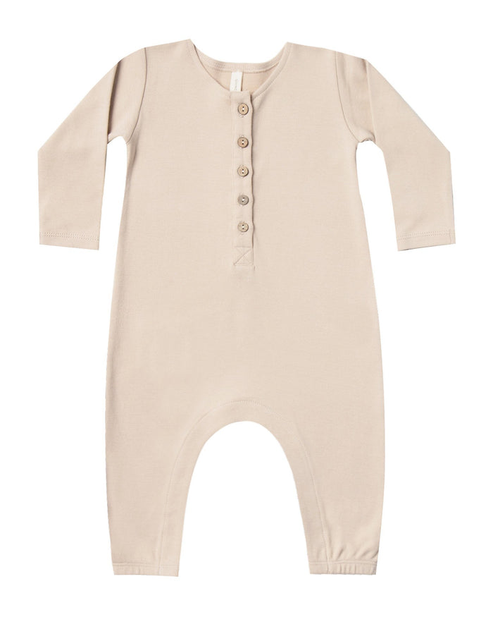 Little quincy mae baby girl longsleeve jumpsuit in rose