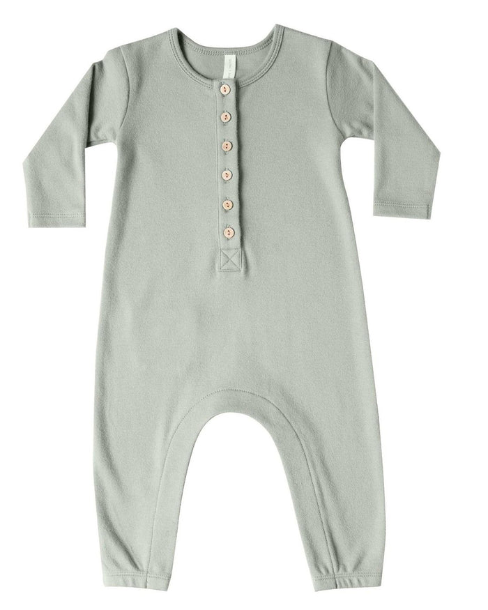 Little quincy mae baby girl longsleeve jumpsuit in sage