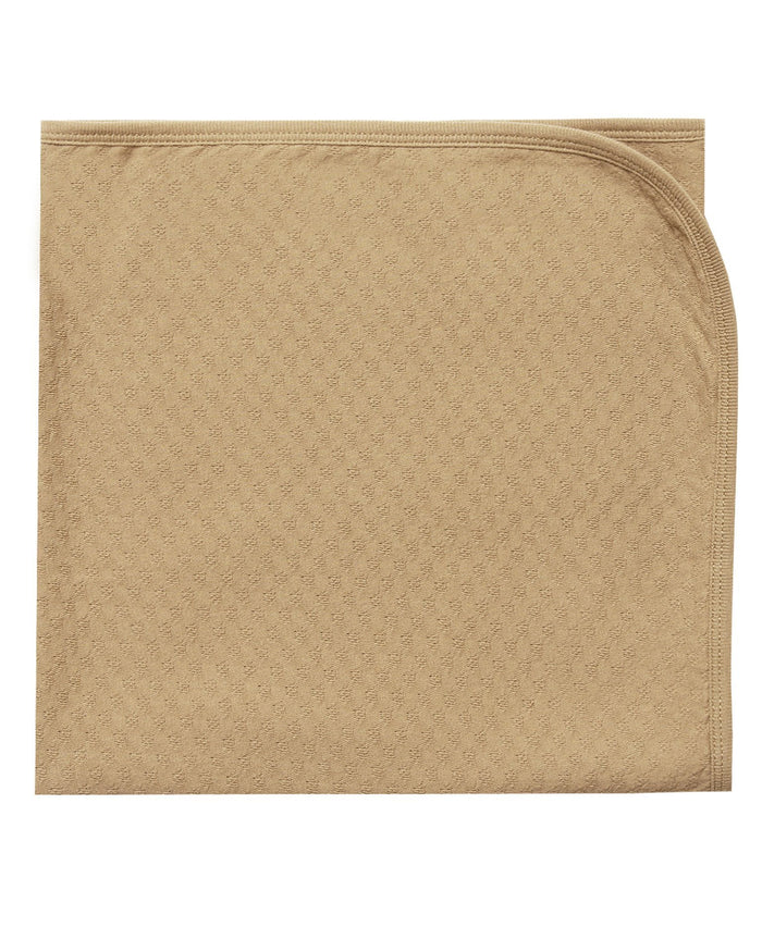 Little quincy mae baby accessories pointelle baby blanket in honey