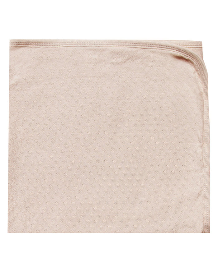 Little quincy mae room pointelle baby blanket in rose