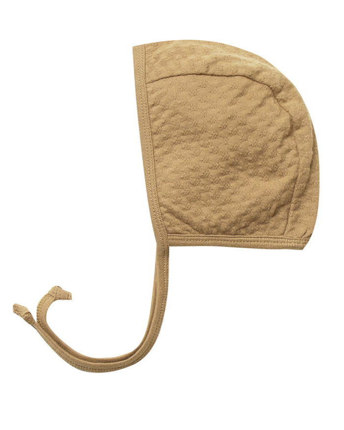 Little quincy mae baby accessories pointelle baby bonnet in honey