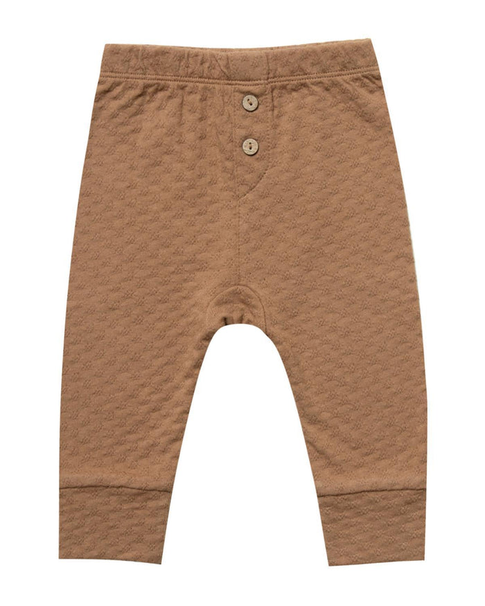 Little quincy mae baby girl 0-3 pointelle pajama pant in copper